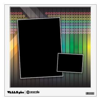Funky rainbow page layout wall sticker