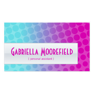 Funky Rainbow Personal Assistant Business Cards