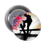 funky rainbow skater abstract button