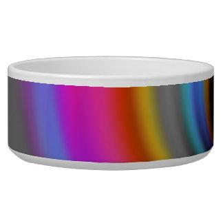 Funky Rainbow Swirl Design Bowl