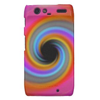 Funky Rainbow Swirl Design Droid RAZR Case