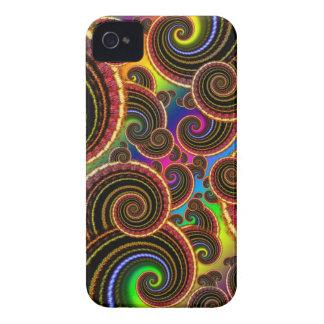 Funky Rainbow Swirl Fractal Art Pattern Case-Mate iPhone 4 Cases