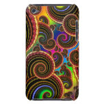 Funky Rainbow Swirl Fractal Art Pattern Barely There iPod Case