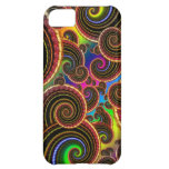 Funky Rainbow Swirl Fractal Art Pattern Cover For iPhone 5C
