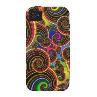 Funky Rainbow Swirl Fractal Art Pattern Case-Mate iPhone 4 Cover