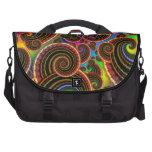 Funky Rainbow Swirl Fractal Art Pattern Bag For Laptop