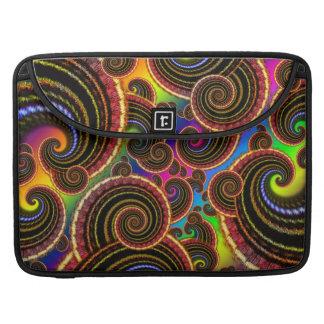 Funky Rainbow Swirl Fractal Art Pattern Sleeve For MacBook Pro