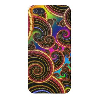 Funky Rainbow Swirl Fractal Art Pern iPhone 5 Case