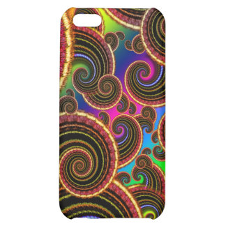 Funky Rainbow Swirl Fractal Art Pern iPhone 5C Case