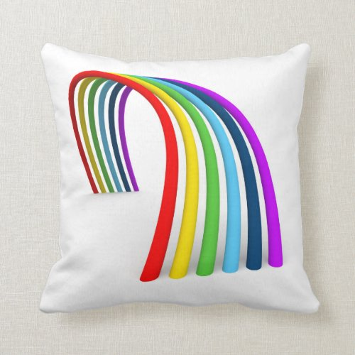 Funky Rainbow Throw Pillow