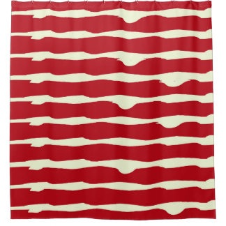Stripes With Red Shower Curtains Zazzle