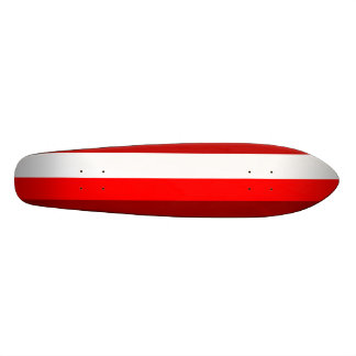 Funky red and white stripes skateboard decks