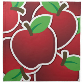 Funky red apples cloth napkin