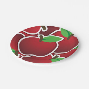 Funky red apples paper plate  sc 1 st  Zazzle & Funky Plates | Zazzle