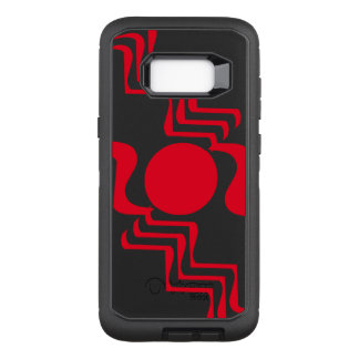 Funky Red Black Abstract 4Jack OtterBox Defender Samsung Galaxy S8+ Case