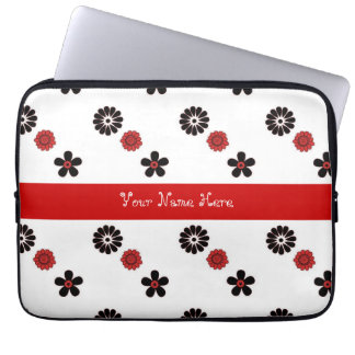 Funky Red Flowers Laptop Sleeve