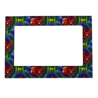 Funky Red Goldfish Magnetic Frame