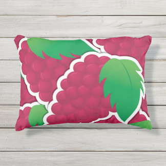 Funky red grapes outdoor pillow