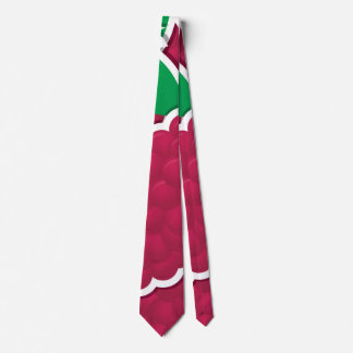 Funky red grapes tie