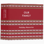 Funky Red Green White Dots Holiday Binder