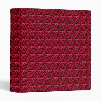 Funky Red Hypnotic Swirl Art Binder