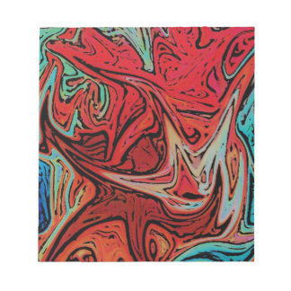 Funky Red Marble Swirl Notepad