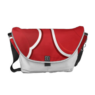 Funky red pepper messenger bag