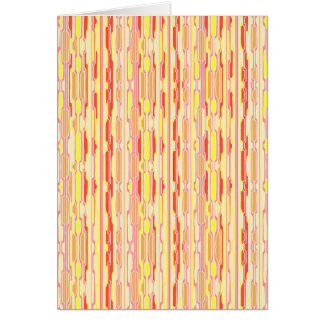 Funky Red Psychedelic Stripes Card