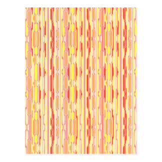Funky Red Psychedelic Stripes Postcard