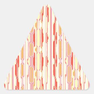 Funky Red Stripe Triangle Sticker