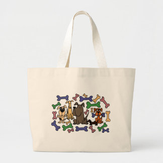 Funky Rescue Dogs and Biscuits Canvas Bags