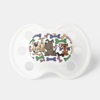 Funky Rescue Dogs and Biscuits Baby Pacifiers