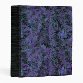 Funky Retro Abstract Charcoal Majestic Amethyst Mini Binder