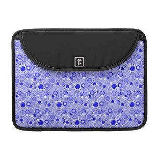 Funky Retro Bright Circles Geometric Pattern MacBook Pro Sleeves