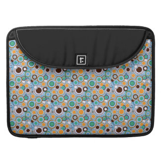 Funky Retro Bright Multi Color Circles Pattern Sleeves For MacBook Pro