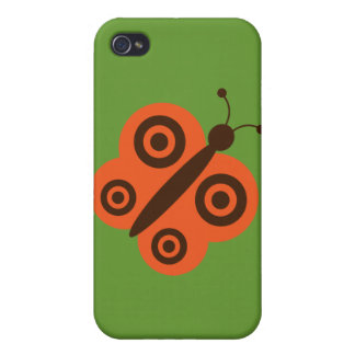 Funky Retro Cartoon Butterfly iPhone 4/4S Cover