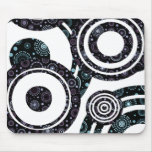 Funky Retro Circles Mouse Pads