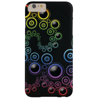 Funky Retro Circles Pattern in Rainbow Colors Barely There iPhone 6 Plus Case