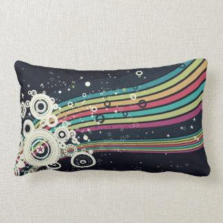 Funky Retro Circles Vector (blue) Pillow