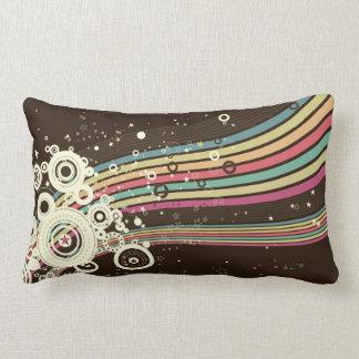 Funky Retro Circles Vector (brown) Pillows
