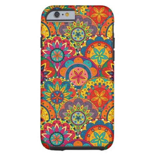 Funky Retro Colorful Mandala Pattern Phone Case