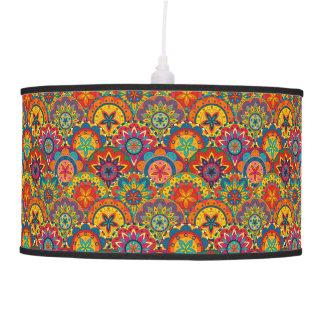 Funky Retro Colorful Mandala Pattern Ceiling Lamp