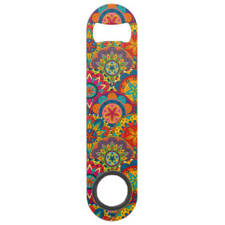 Funky Retro Colorful Mandala Pattern Speed Bottle Opener