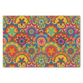Funky Retro Colorful Mandala Pattern Tissue Paper