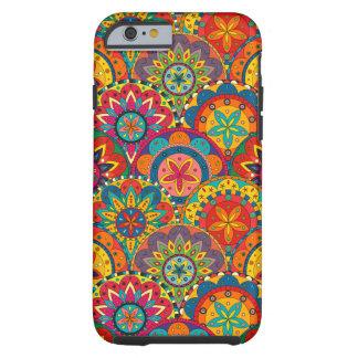 Funky Retro Colorful Mandala Pattern Tough iPhone 6 Case