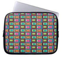 funky retro colorful pattern computer sleeve