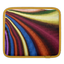 funky retro colorful pattern iPad sleeve