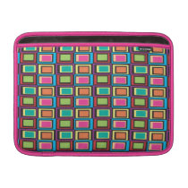 funky retro colorful pattern MacBook air sleeve