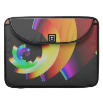 funky retro colorful pattern MacBook pro sleeve