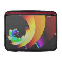 funky retro colorful pattern MacBook sleeve